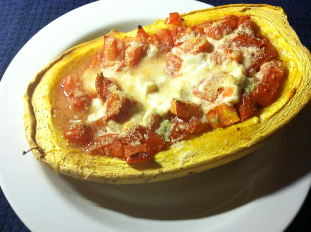 Spaghetti Squash with Roasted Tomatoes and Goat Cheese ...