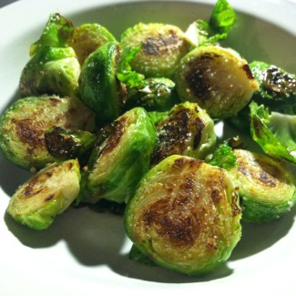 Lemon and Parmesan Brussels Sprouts