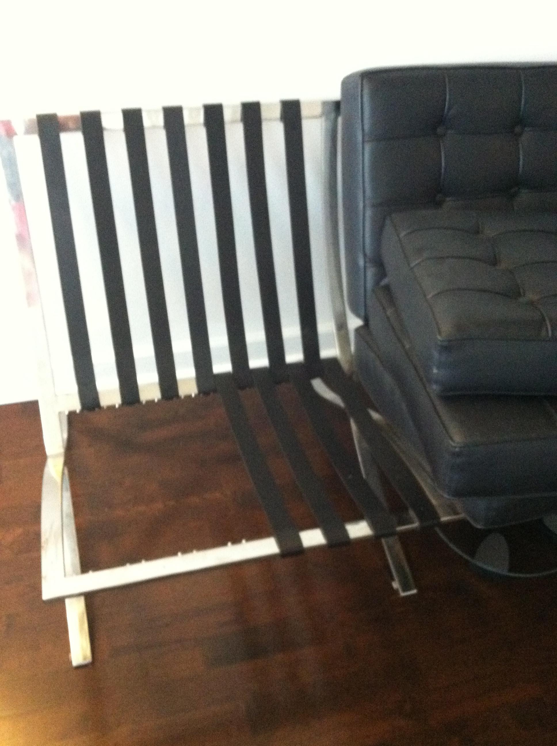 Weekend Project Barcelona Chair Repair Thekittchen Rh Thekittchen Com Barcelona  Chair Replacement Cushions IKEA Barcelona Chair