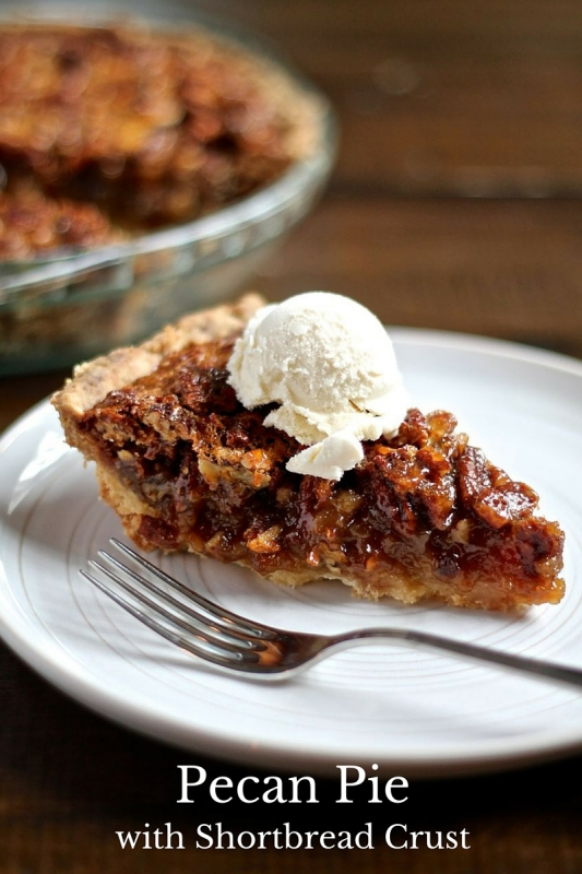 Pecan Pie with a Shortbread Crust - thekittchen