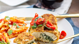 Ricotta and Spinach Stuffed Chicken Breasts