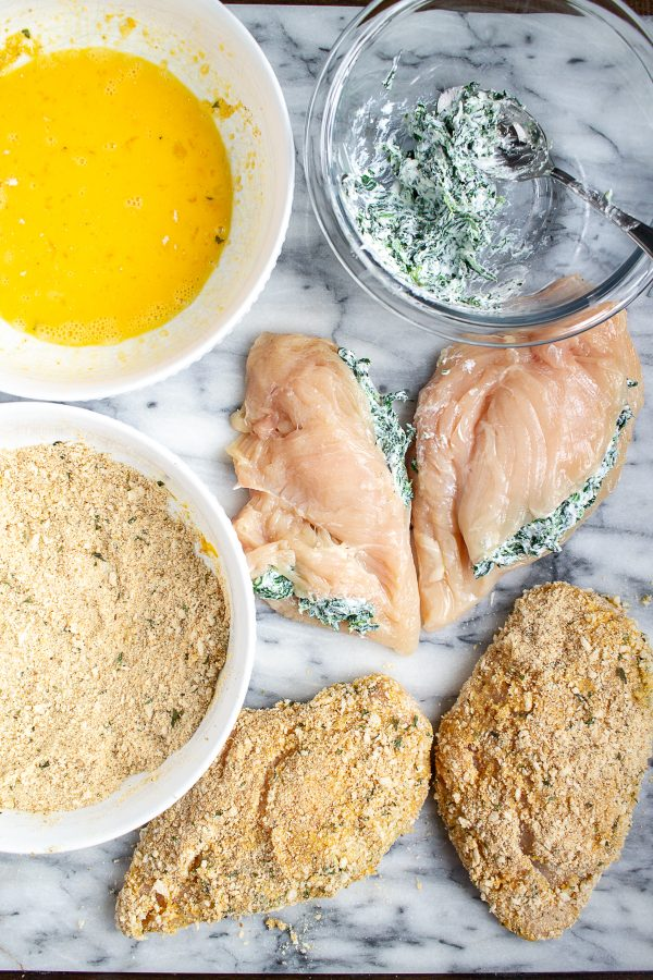 How to make Ricotta and Spinach Stuffed Chicken Breasts