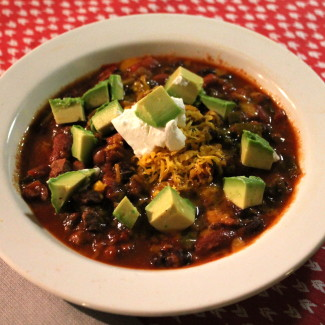 Chunky Beef and Three Bean Slow Cooker Chili