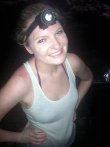 Rocking a head lamp in a bat and spider filled cave.