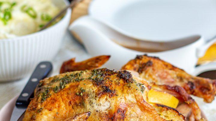 Lemon, Rosemary, and Oregano Roast Chicken