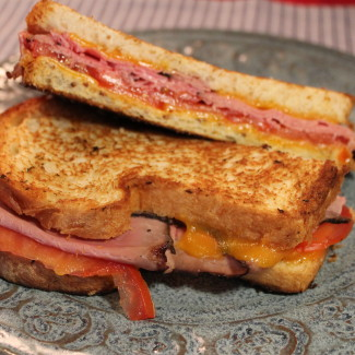 Roast Beef, Cheddar and Tomato Sandwich