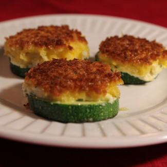 Zucchini Goat Cheese Bites