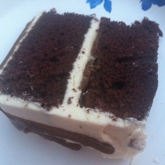 Whiskey Chocolate Caramel Cake