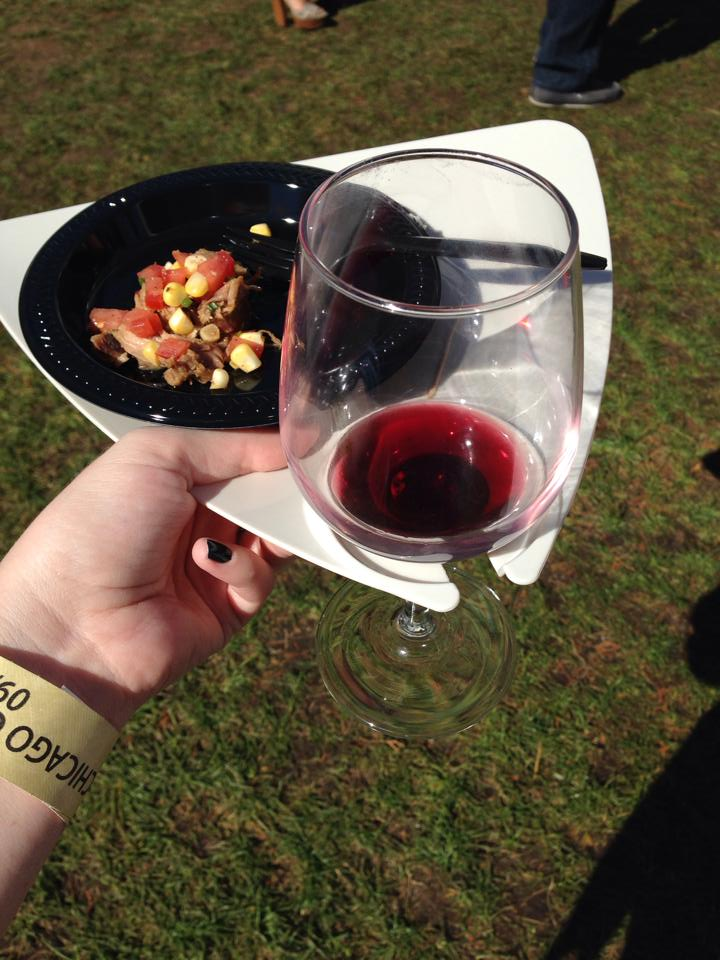 A plate that holds your wine glass. Brilliant.