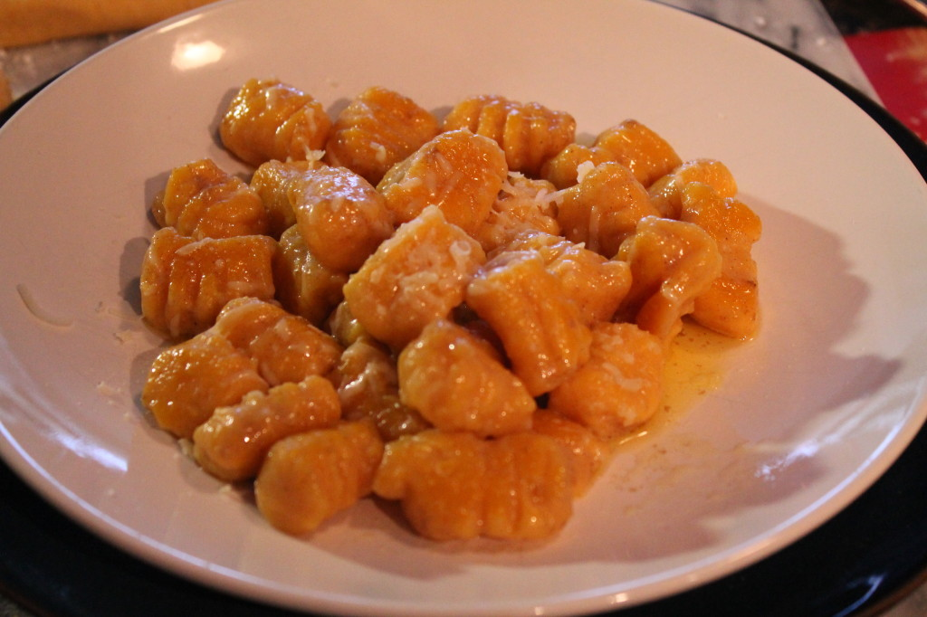 Butternut Squash and Ricotta Gnocchi with Butter and Parmesan