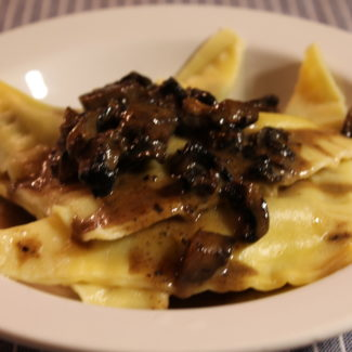 Short Rib and Mushroom Ravioli