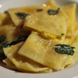 Butternut Squash Ravioli with Shallots and Fresh Ricotta