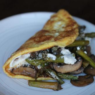 Asparagus and Mushroom Omelets