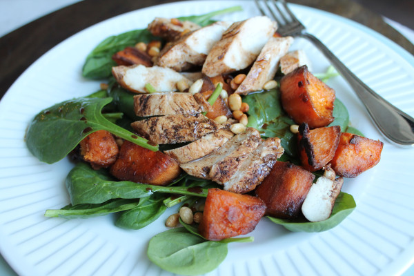 Salad with Chicken and Sweet Potato