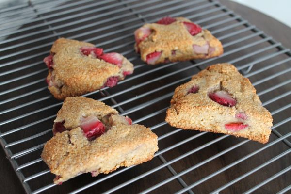Strawberry Paleo Scones