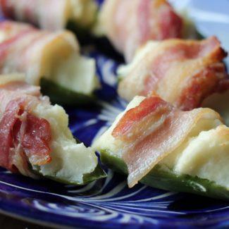 Mashed Potato Bacon Jalapeño Poppers