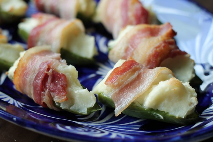 Mashed Potato Bacon Jalapeño Poppers