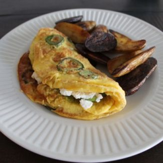 Jalapeño, Avocado, and Goat Cheese Omelet
