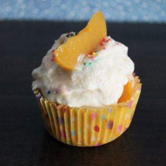 Vanilla Peach Cupcakes