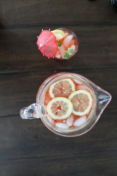 Strawberry Mint Lemonade 2