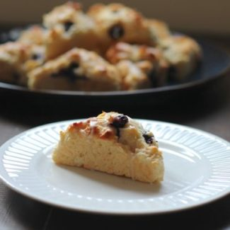 Blueberry Scones with a Vanilla Glaze