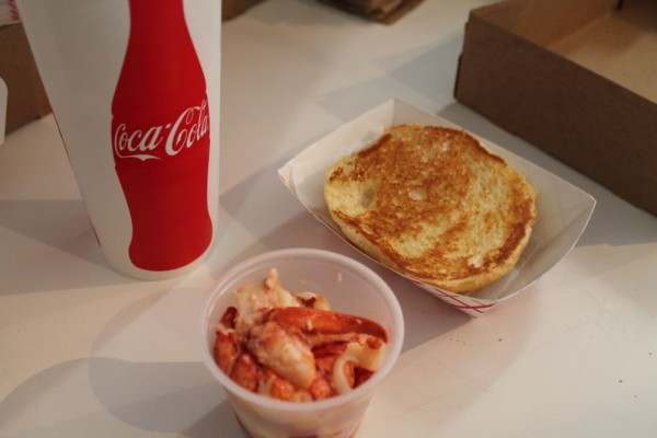 Making a Lobster Roll 1 - toast the bun