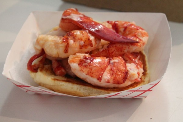 Making a Lobster Roll 2 - add the meat