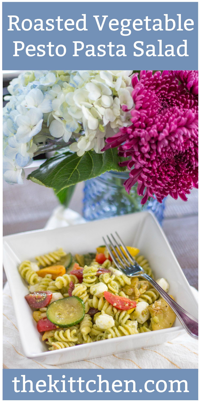 Roasted Vegetable Pesto Pasta Salad