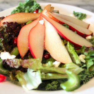 Pear, Pomegranate, and Goat Cheese Salad