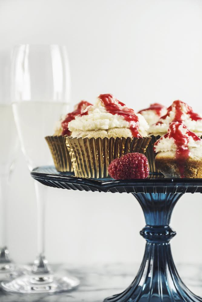 Raspberry White Chocolate Cupcakes with Mascarpone Frosting