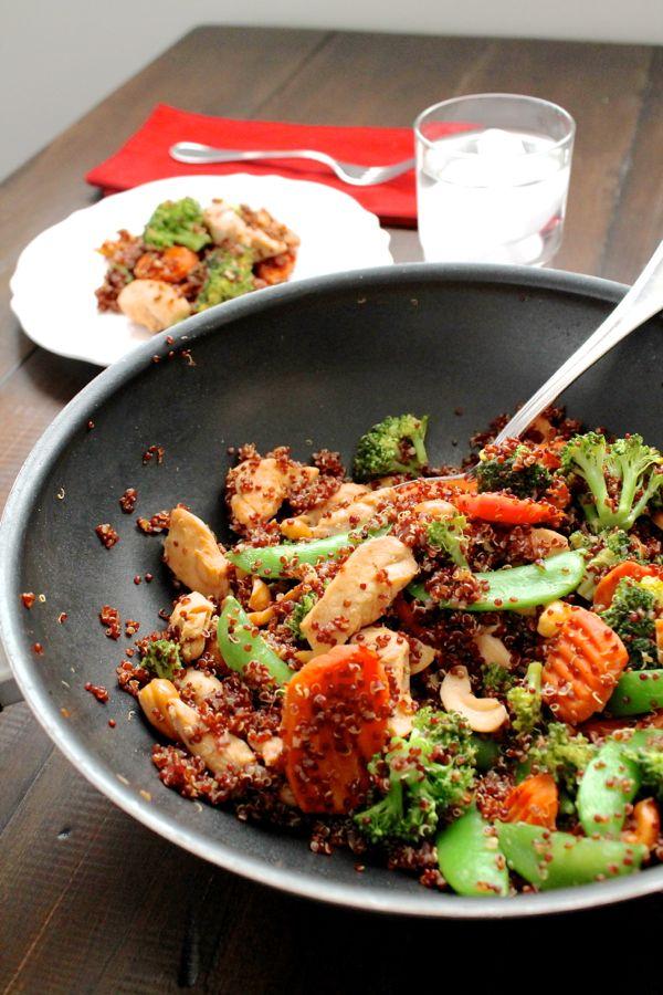Cashew Chicken Quinoa Stir Fry