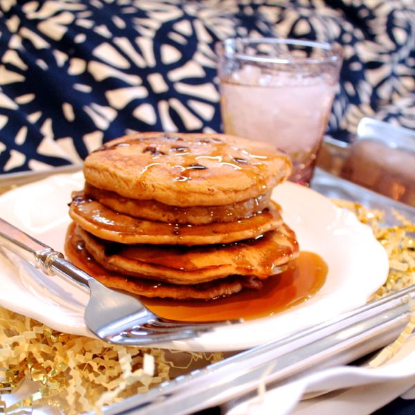 Irish Cream Chocolate Chip Pancakes