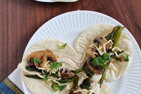Chicken and Rajas Tacos
