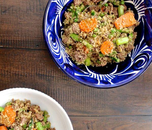 Beef and Asparagus Quinoa Stir Fry