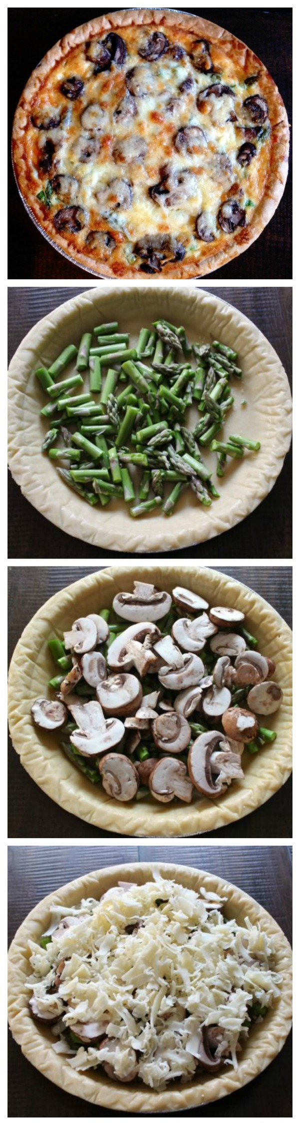 Easy quiche recipe with asparagus mushrooms and cheddar thekittchen asparagus mushroom cheddar easy quiche recipe forumfinder Choice Image