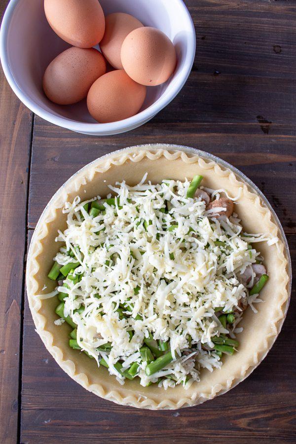 Easy Quiche Recipe Asparagus Mushroom and Cheddar Quiche 3 1