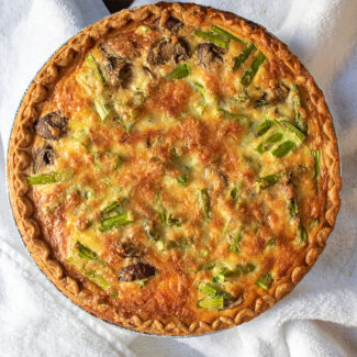 Easy Quiche Recipe Asparagus Mushroom and Cheddar Quiche 4