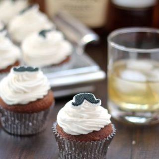 Mocha Cupcakes with Bourbon Frosting