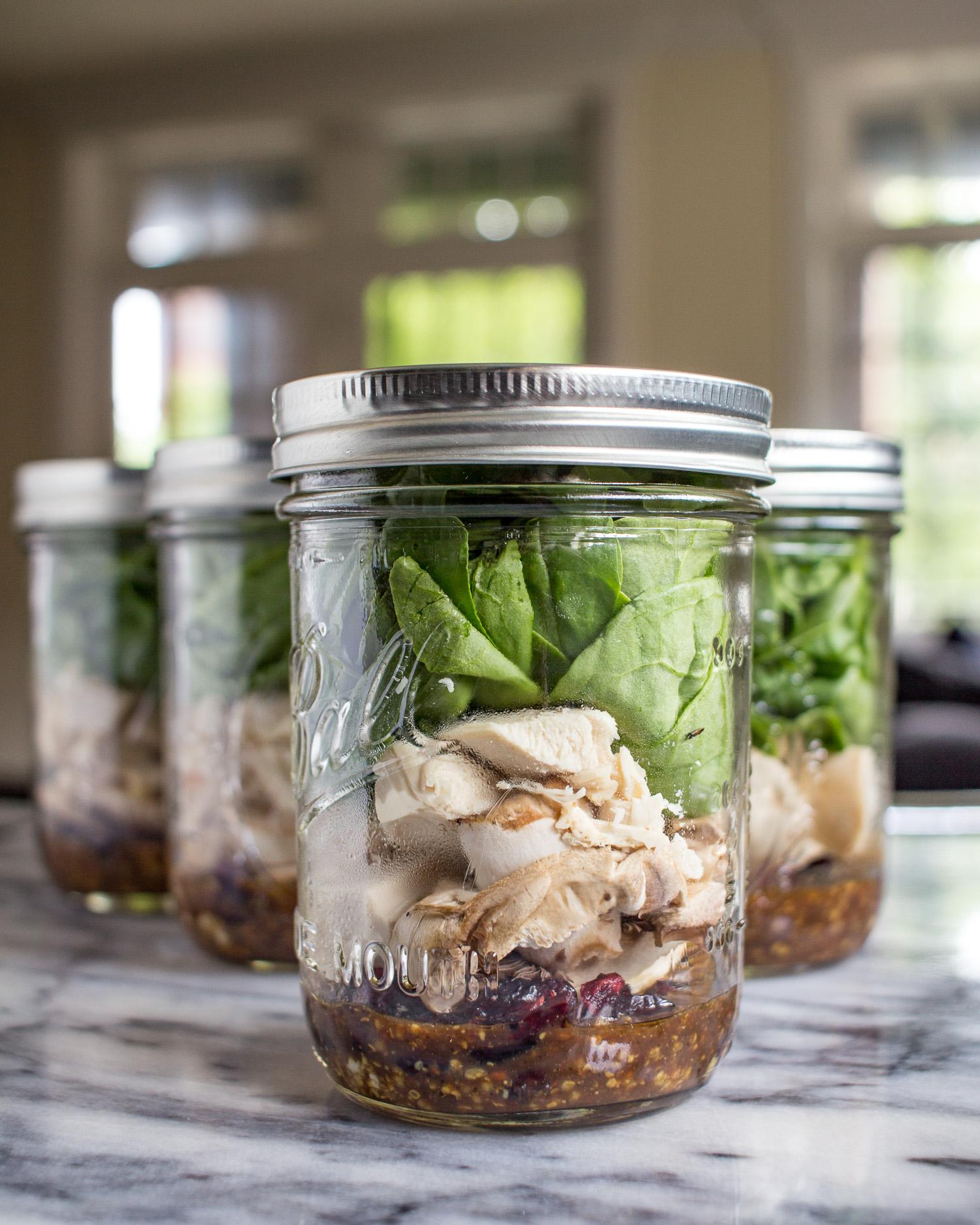 Protein Packed Mason Jar Spinach Salads Thekittchen