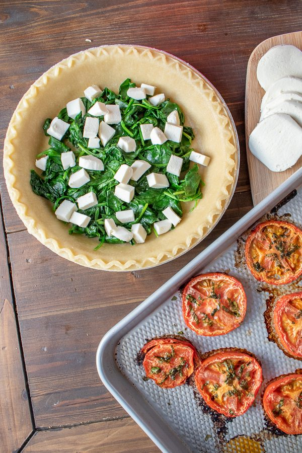 Roasted Tomato Mozzarella and Spinach Quiche Recipe 2