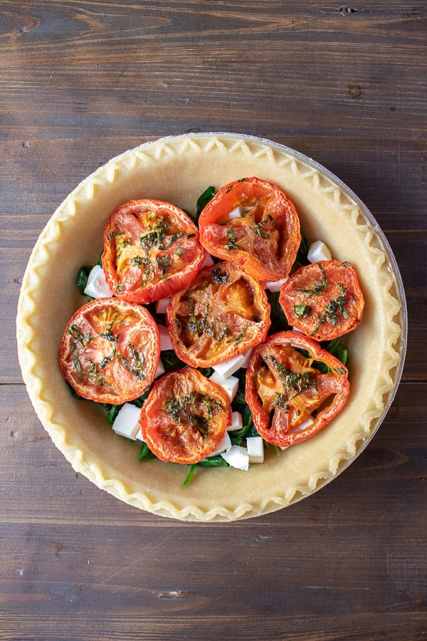 Roasted Tomato Mozzarella and Spinach Quiche Recipe 3