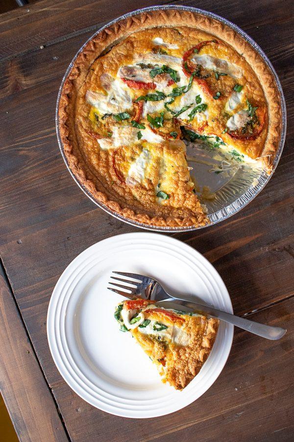 Roasted Tomato Mozzarella and Spinach Quiche Recipe 6 1