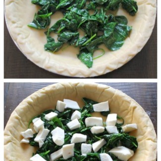 Easy Quiche Recipe with Asparagus, Mushrooms and Cheddar
