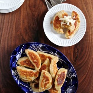 Easy Potato and Cheddar Pierogi