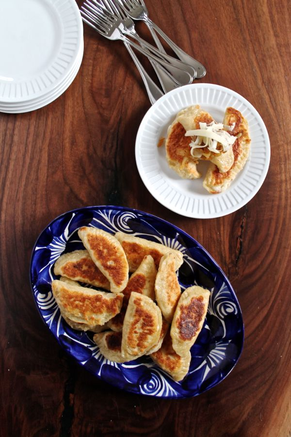 Easy Potato and Cheddar Pierogi via The Kittchen