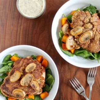 Walnut Crusted Chicken with a Creamy Mustard Sauce