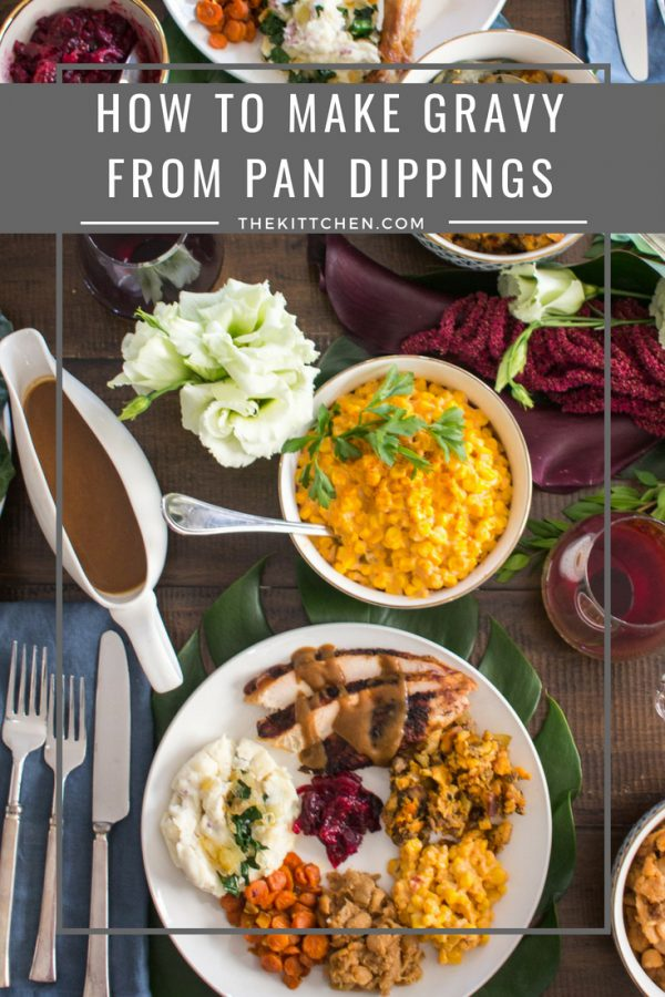 How to Make Gravy from Pan Drippings - the easiest way to do it! #thanksgiving #gravy