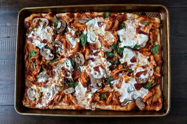 Buffalo BBQ Chicken Pizza