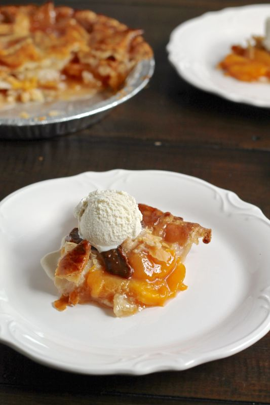 Bourbon Peach Pie via The Kittchen vertical