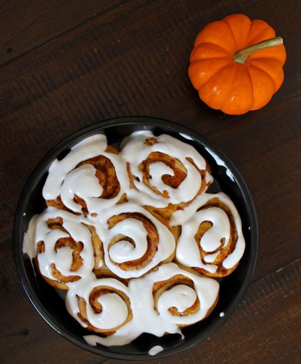 Finished Pumpkin Cinnamon Rolls